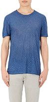 John Varvatos Men's Slub Jersey T-Shirt-BLUE