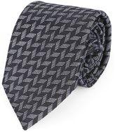 Armani Collezioni Grey and Black Two-Tone Arrow Tie