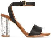 See by Chloe metallic heel sandals