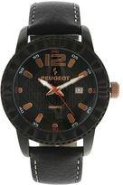 Peugeot Men's Leather Watch - 2037BK