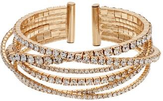 Vera Wang Simply Vera Rhinestone Chain Bangle Bracelet