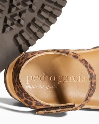 Pedro Garcia Abreu Leopard-Print Suede Sporty Sandals