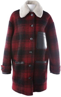 Maison Margiela Red Wool Coats