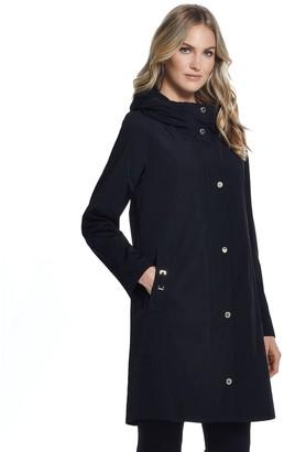 Gallery Women's Accordion-Collar Hood Rain Jacket