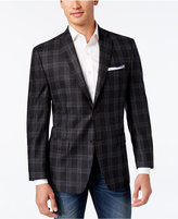 MICHAEL Michael Kors Men's Classic-Fit Charcoal Plaid Sport Coat