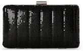 Jessica McClintock Black Noelle Quilted Mesh Clutch