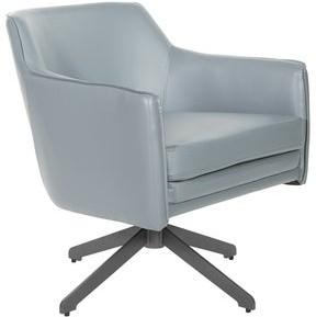 Office Star Faux Leather Guest Chair with Swivel