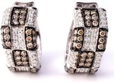 LeVian LE VIAN Chocolate Diamond Earrings 1.85 cttw (Clarity SI1-SI2) Huggies / Hoops 14k White Gold