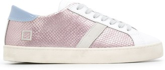 D.A.T.E Metallic-Panelled Lace-Up Sneakers