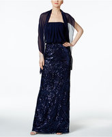 Vince Camuto Sequined Blouson Gown