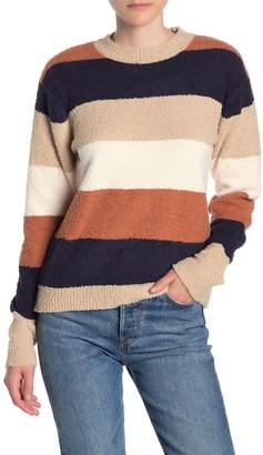 Dress Forum Textured Stripe Crew Neck Sweater