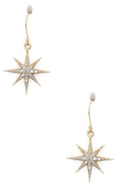 Mizuki 14K Gold Diamond Star Earrings