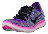 Nike Women's Free Rn Flyknit Hyper Violet/Black/Ttl Crimson/Lsr Orn Running Shoe 9.5 Women US