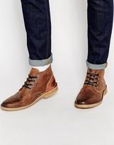 Jack & Jones Gene Leather Desert Boots - Brown