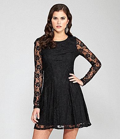 Gianni Bini Sydney Lace Long-Sleeve Dress