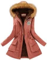 Aro Lora Women's Winter Warm Faux Fur Hooded Cotton-padded Coat Parka Long Jacket US 14