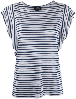 A.P.C. striped-print crew neck T-Shirt