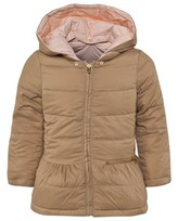 Chloé Pink And Camel Puffer Coat