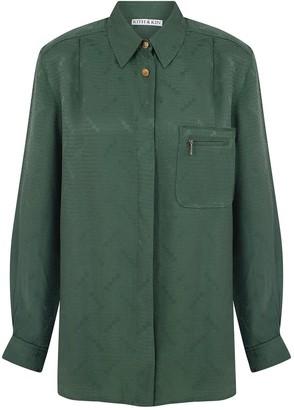Kith & Kin Green Shirt With Zipped Pocket