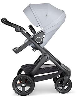 Stokke Trailz Black Stroller Chassis with Black Handle