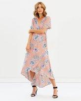 Sass Garden Party Wrap Maxi Dress