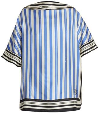 Loewe Stripe Silk Blouse