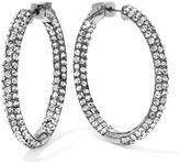 """Joan Boyce Pavé Crystal Inside Out 1-3/8"""" Hoop Earrings"""