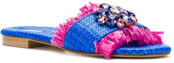 Thumbnail for your product : Emanuela Caruso Floral Embellished Sandals