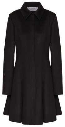 Valentino Wool-Cashmere A-Line Coat