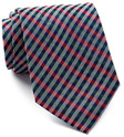 tommy hilfiger red green group plaid silk tie