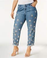 MICHAEL Michael Kors Size Dillon Jewel-Embellished Boyfriend Jeans