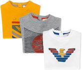 Armani Junior three logo tops - kids - Cotton - 6 mth