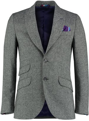 Koy Clothing Grey Nusu Kamba Wool Blazer