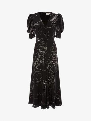 Alexander McQueen Dancing Girl Midi Dress