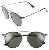 Ray-Ban Men's Phantos 49Mm Sunglasses - Black Top Matte Black/green