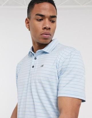 Calvin Klein Golf Splice polo shirt in blue stripe
