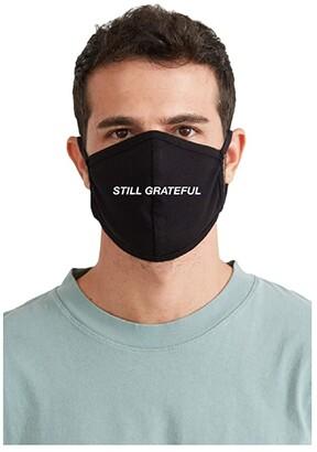 good hYOUman Still Grateful Face Mask (Black) Caps