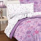 Dream Factory Purple Princess Hearts And Crowns Girls Comforter Set, Multi, Twin
