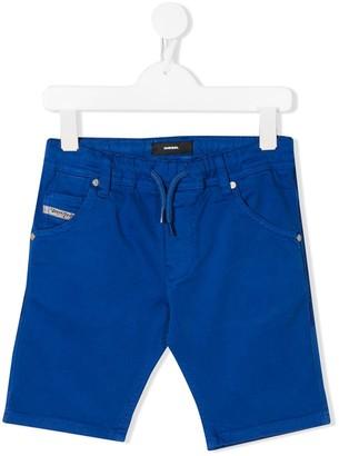 Diesel drawstring straight-leg trousers