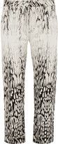 Acne Studios Pop Mina Cotton-Jacquard Mid-Rise Straight-Leg Jeans