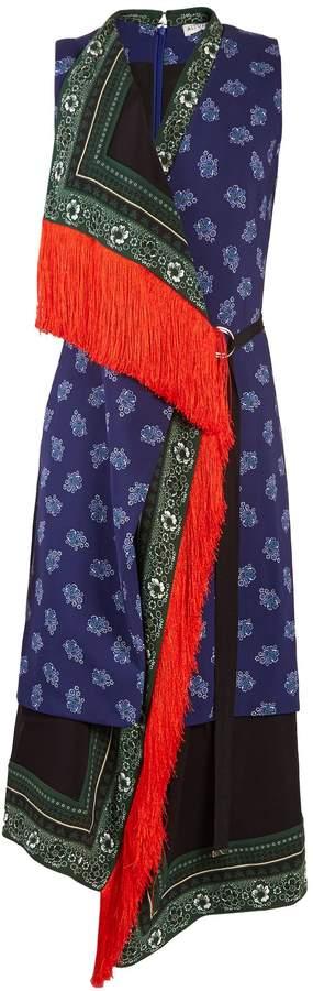 Altuzarra Bina sleeveless scarf-print stretch-cady dress