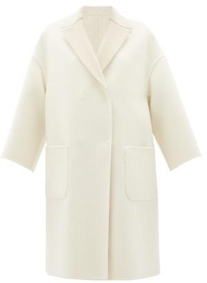 Brunello Cucinelli Reversible Brushed-cashmere Coat - Womens - Ivory Multi