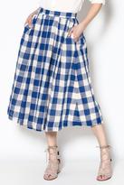 FRNCH Blue Gingham Skirt