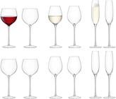 LSA International Aura Wine Glass/Champagne Flute Set