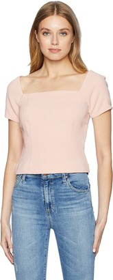 Finders Keepers findersKEEPERS Women's VICE Square Neck Short Sleeve TOP