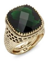 Saks Fifth Avenue Baroque Green Stone Ring