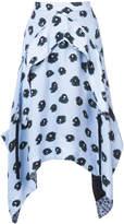 Proenza Schouler printed asymmetric skirt