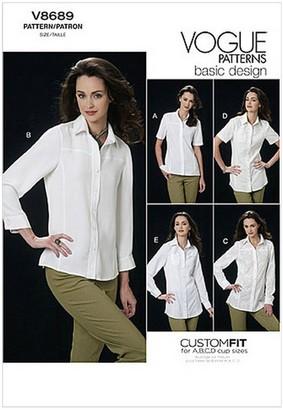 Vogue Women's Shirt Sewing Pattern, 8689