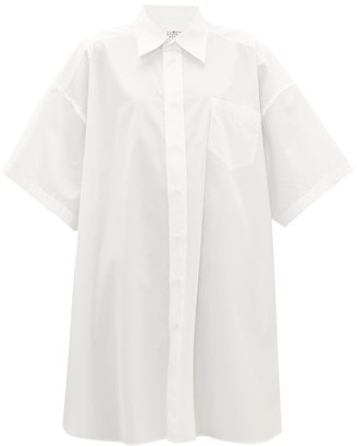 Maison Margiela Oversized Cotton-poplin Shirt Dress - Womens - White