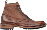 Barneys New York Men's Washed Leather Boots-BROWN